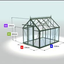 Viola II Glas Anbaugewächshaus